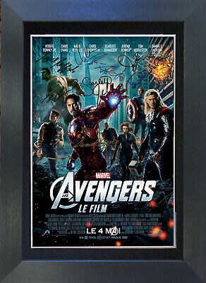 MARVEL THE AVENGERS Signed Mounted Autograph Photo Prints A4 263