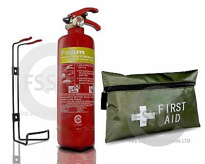 Taxi/hgv Safety Kit. Cabs Taxis Vehicle Foam Extinguisher+ 42 Pcs First Aid Kit