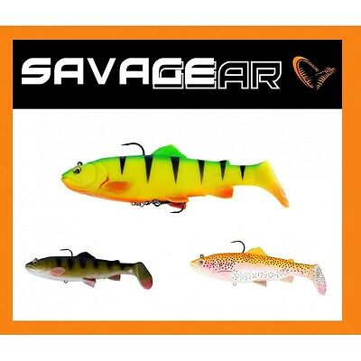 Savage Gear 3D Trout Rattle Shad Predator Tackle Soft Lures Jig Heads Crankbaits