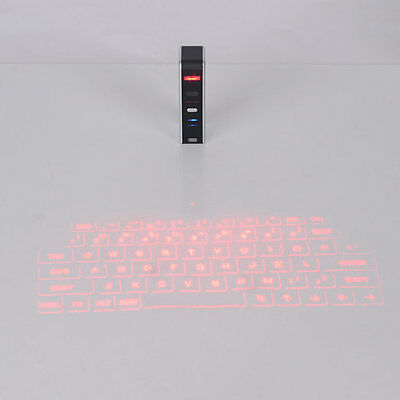 KB320 Universal Bluetooth USB Virtual Laser Keyboard For Smart Phones F7