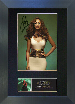 LEONA LEWIS Signed Mounted Autograph Photo Prints A4 241
