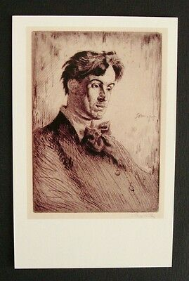 William Butler Yeats by Augustus John, National Portrait Gallery Postcard B835