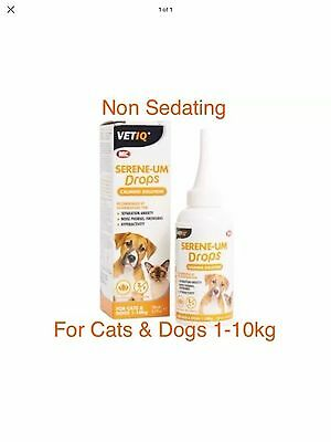 M&C Serene-UM Calm Drops, Naturally Calms & Soothes for Dogs & Cats 100ml