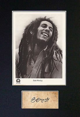 BOB MARLEY Signed Mounted Autograph Photo Prints A4 62