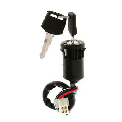 ATV 4 Wire Ignition Barrel Interruttore 50cc 110cc 125cc 250cc Quad Dirt 2Chiave