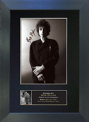 BOB DYLAN Signed Mounted Autograph Photo Prints A4 319