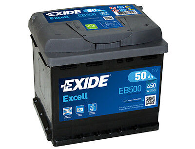 BATTERIE AUTO EXIDE EB500 - 50Ah 450A - Gamme Excell