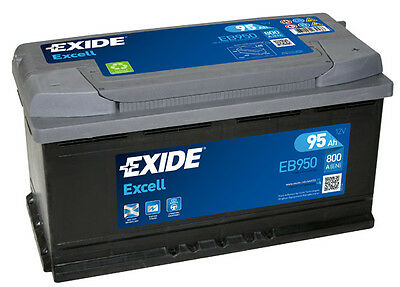 BATTERIE AUTO EXIDE EB950 - 95Ah 800A - Gamme Excell