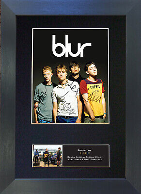 BLUR Signed Mounted Autograph Photo Prints A4 352