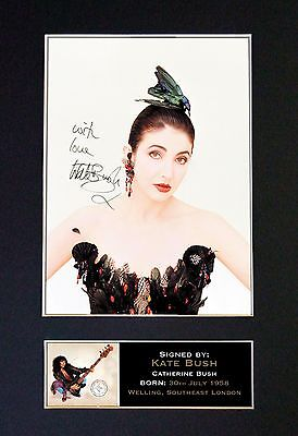 KATE BUSH Signed Mounted Autograph Photo Prints A4 314