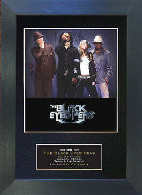 THE BLACK EYED PEAS Signed Mounted Autograph Photo Prints A4 205