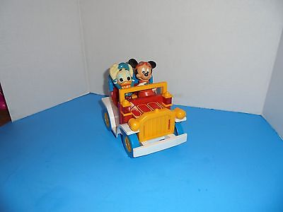 Vintage Mickey Mouse and Donald Duck Toy Car ILLCO Toys