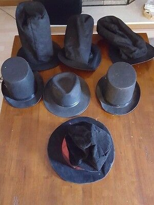 Large Lot Of Costume Top Hats Great For Halloween!!