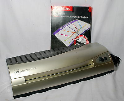 "GBC Heat Seal H400 Pouch Laminator 12.75"" w/50 Sheets of Letter Lamination"