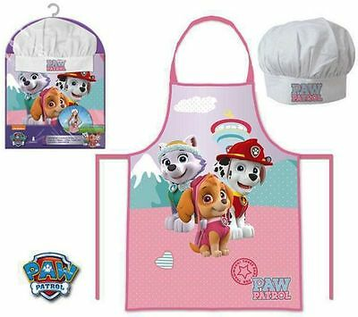 Girls Kids Paw Patrol Chef Cook Baking Gift Set Includes Apron And Hat