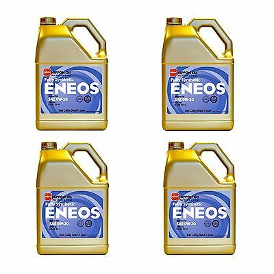 Eneos High Performance 0W20 Full Synthetic Motor Oil 3.788L x4 (4 Gallon)