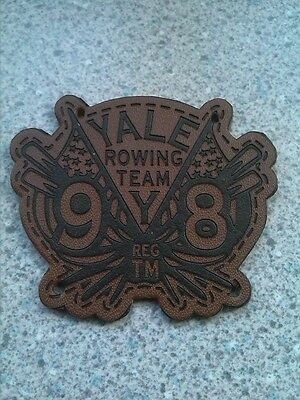 Yale University Rowing Team Leather Patch  Regatta Harvard