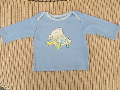 Baby boy blue Tiny Tatty Teddy long sleeved cotton top Age 0 - 3 Months ex M & S