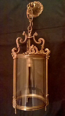 CHANDELIER LANTERN, 1 LIGHT, LOUIS XV STYLE - BRONZE - FRENCH ANTIQUE - 22,85 in