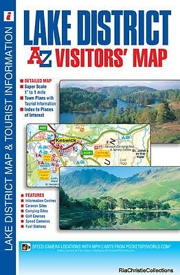 Lake District Visitors Map Geographers A-Z Map Company Sheet map folded New Book