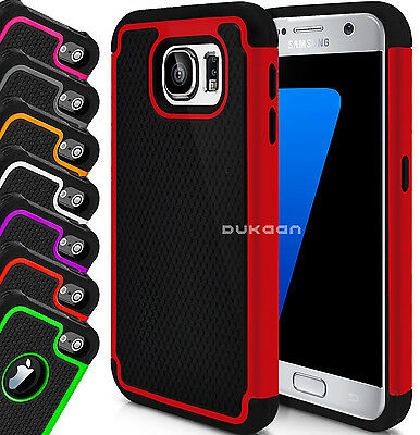 Hybrid Shockproof Dual Layer Heavy Duty Case Cover Workman For Samsung Galaxy S8