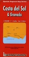 Costa Del Sol and Granada New Sheet map folded Free UK Post