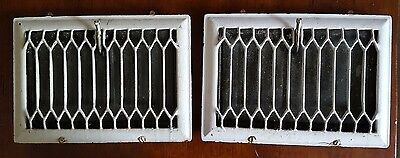 2 Antique Victorian Style Heating Vent Covers Great Restoration Pieces!