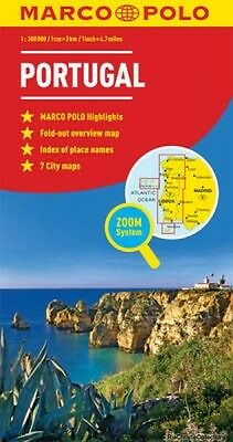 Portugal Marco Polo Map New Hardback Free UK Post