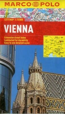 Vienna Marco Polo City Map Marco Polo New Sheet map folded Free UK Post