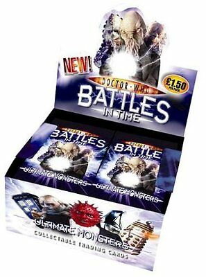 Doctor Who Battles in Time Ultimate Monsters Trading Cards SEALED box of 32 as