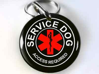 Service Dog Asclepius medical BLACK custom personalized pet id tag