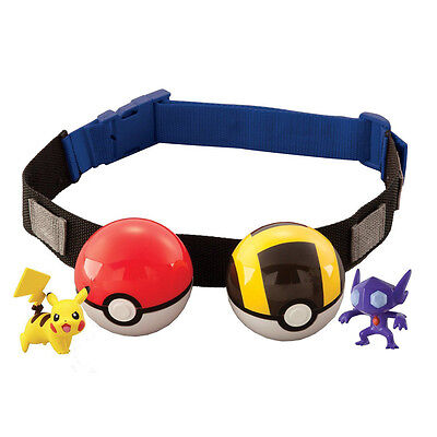Pokemon Clip n Carry Kids Adjustable Poke Ball Belt Pretend Play Game Toys sed