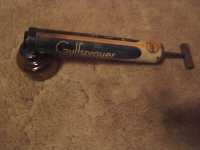 ANTIQUE GULF SPACE SPRAYER GULFSPRAY INSECT KILLER with AMBER BOTTLE