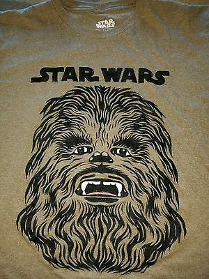 STAR WARS brand T-Shirt LARGE Velvet CHEWBACCA Rare Collectible MEMROABILIA