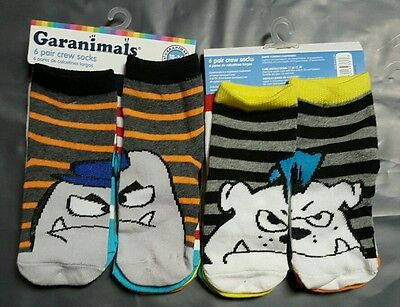 Lot Of 12 Pairs Kids Boy Toddler Crew Socks Size 18-36 Month