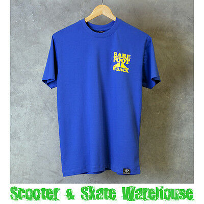 PENNY SKATEBOARDS Barefoot Is Back T-Shirt Blue S-L - FREE DELIVERY