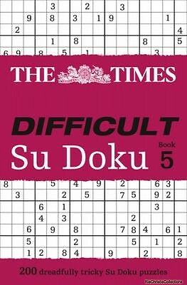 The Times Difficult Su Doku 9780007440344 The Times Mind Games Paperback New Boo