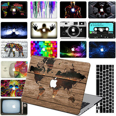 "Rubberized Painting Hard Case Cover For Macbook Pro Air 11""13""15"" Retina 12""+ KB"