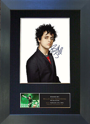 BILLIE JOE ARMSTRONG Green Day No2 Signed Mounted Autograph Photo Prints A4 437