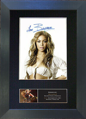 BEYONCE No2 Signed Mounted Autograph Photo Prints A4 440