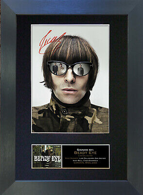 LIAM GALLAGHER Beady Eye Signed Mounted Autograph Photo Prints A4 156