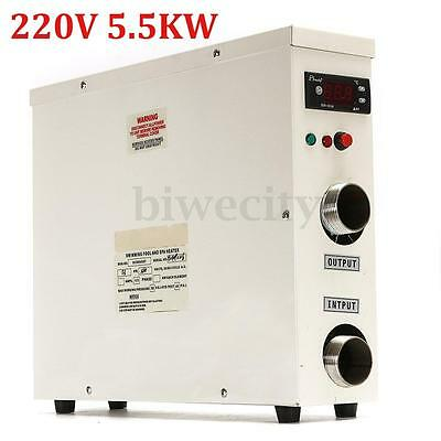 5.5KW 220V Swimming Pool & Bath SPA Hot Tub Electric Water Heater Thermostat