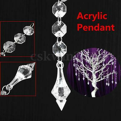 30pcs Christmas Crystal Drops Ornaments Festival Party Tree Hanging Decoration