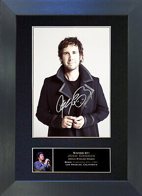 JOSH GROBAN Signed Mounted Autograph Photo Prints A4 322