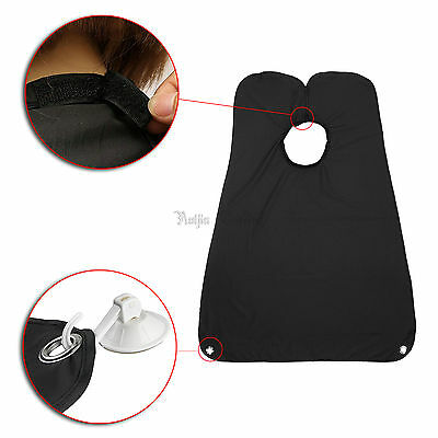 Beard Shave Apron Cape Gather Cloth Bib Facial Hair Whisker Trimming Catcher NEW