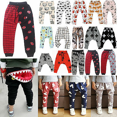 Infant Clothes Kid Boys Girls Harem Long Jogger Pants Trousers Leggings Joogings