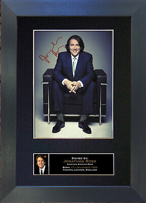 JONATHAN ROSS Signed Mounted Autograph Photo Prints A4 137