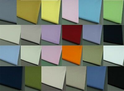 100% Pure Cotton Fabric Sheeting Plain Solid Colours per metre SALE now on!