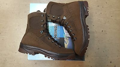 NEW British Army Issue Meindl Desert Fox Brown Leather Combat Boots Size 6 UK