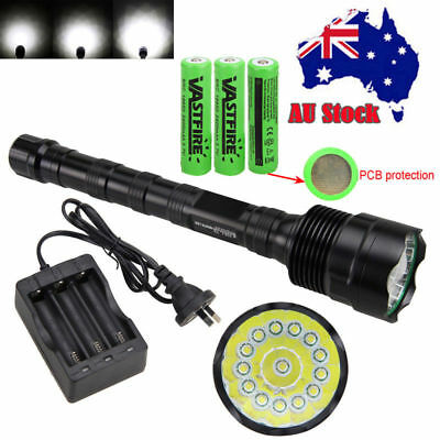 Military 28000lm 11xXML T6 LED Rechargeable Flashlight Torch Hunting Light 18650